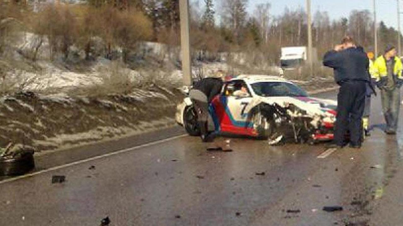 Porsche 997 Martini GT2 crashes in Finland, 820, 31.03.2011