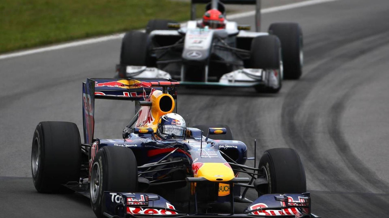 Sebastian Vettel (GER), Red Bull Racing and Michael Schumacher (GER), Mercedes GP, Canadian Grand Prix, Saturday Qualifying, 12.06.2010 Montreal, Canada