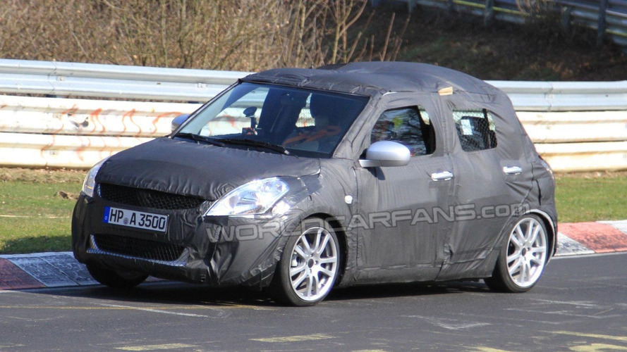 2011 Suzuki Swift Nurburgring spy photos, Germany, 13.04.2010