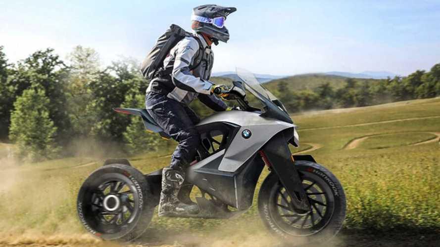 Mira este concept de moto aventurera eléctrica de BMW Motorrad