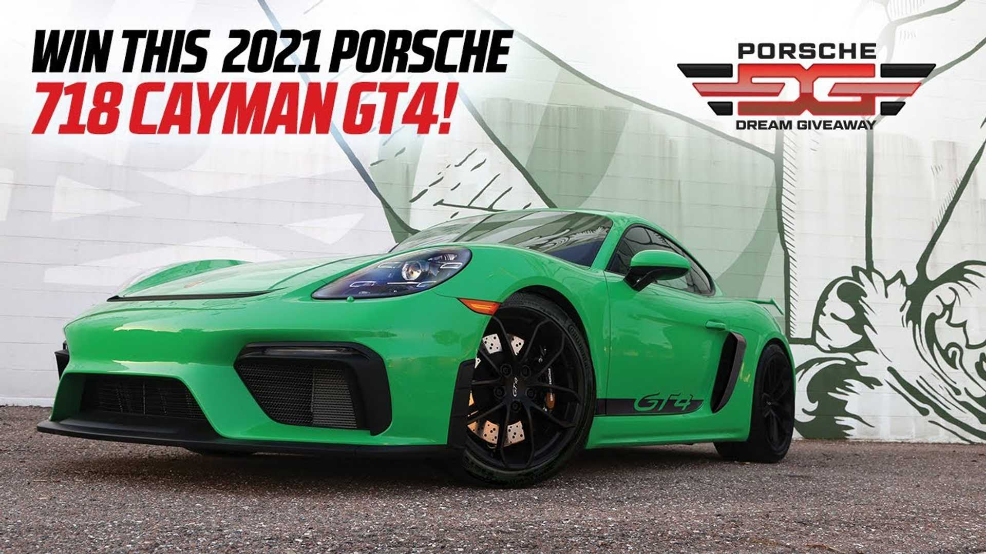 Get Lucky Winning This 2021 Porsche 718 Cayman GT4 Plus $33,000 Cash
