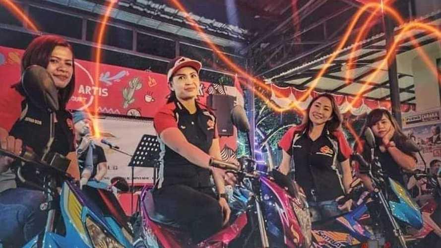 Ladies Srikandi SSFC, Bukti Wanita Juga Hobi Memacu Suzuki Satria F150