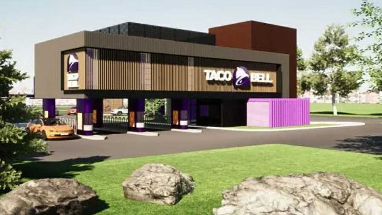 This photo from Border Foods shows how a new Taco Bell drive-through only restaurant might look.