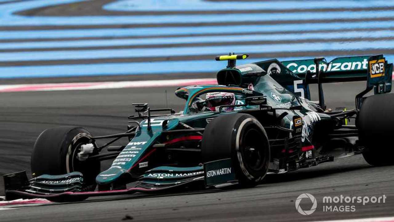 Sebastian Vettel at French GP 2021