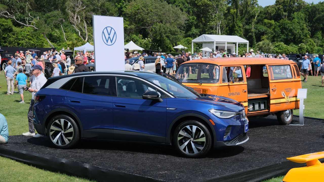 2021 Volkswagen ID.4 And 1979 Elektrotransporter At Amelia Island Concours d'Elegance