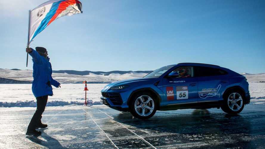 Lamborghini Urus, recórd sobre hielo