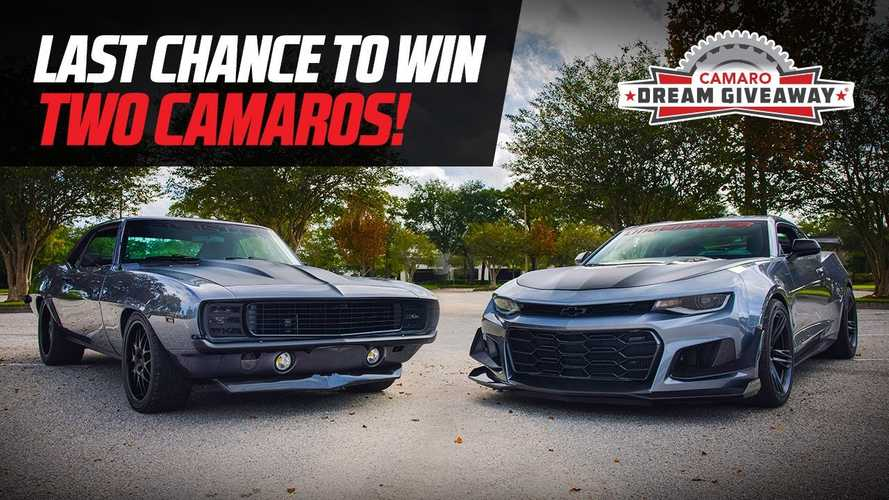 Hurry! Only Days Left To Win Two Camaros Plus $27,000 In Cash