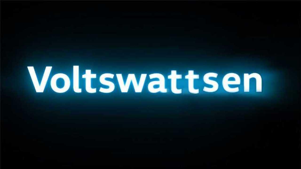 Volkswagen'in elektrikli araç markası Voltswattsen'in logosu