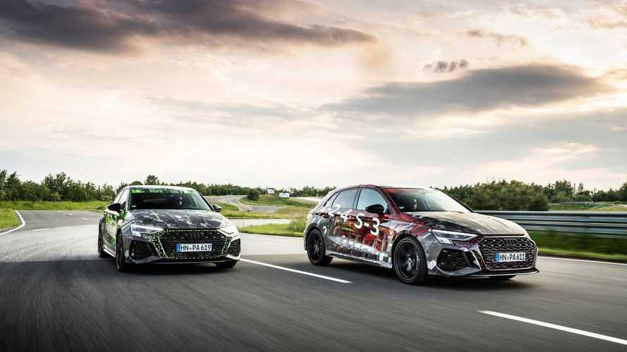 На новом Audi RS 3 можно будет ехать очень быстро и очень боком