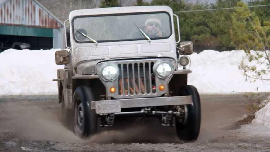 Este Jeep Willys eléctrico solo mantiene dos piezas originales