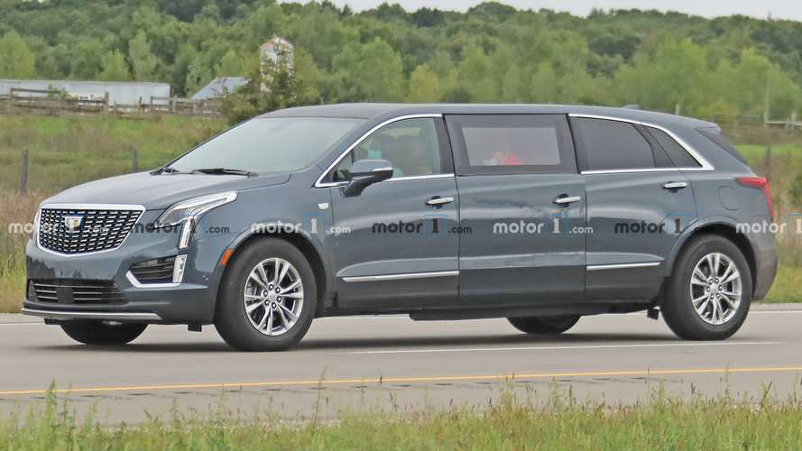Strange Cadillac XT5 Limousine Spied Testing For First Time