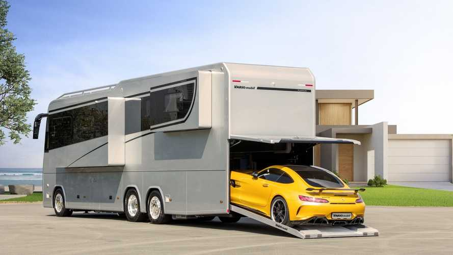 £1.32m Vario Perfect 1200 Platinum motorhome can swallow an AMG GT