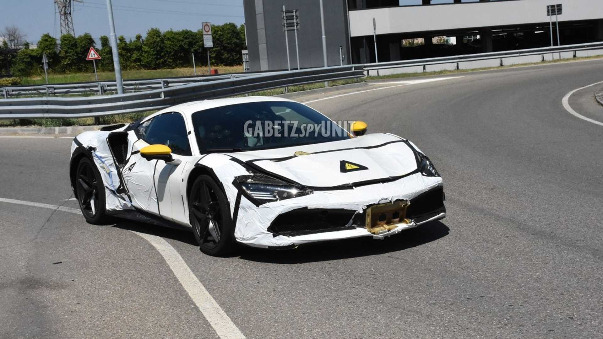 Ferrari hybrid spy photo