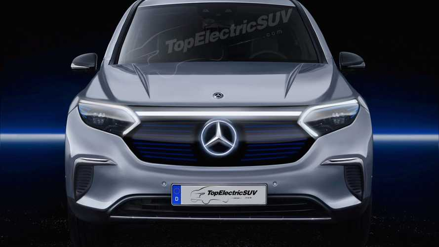 Rendering Previews Mercedes-Benz EQS Flagship Electric SUV's Face