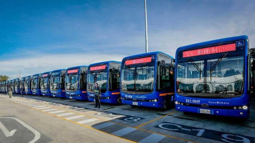 Bogotá recebe 470 ônibus 100% elétricos e passa a ter a maior frota da América