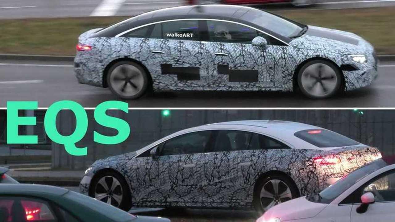 Mercedes-Benz EQS spy (source: walkoARTvideos)