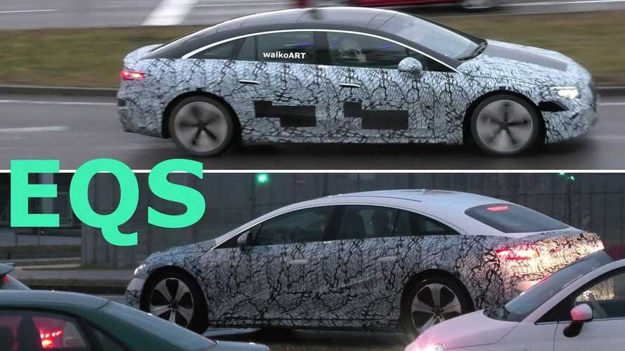 Mercedes-Benz EQS is less camouflaged in newest spy video