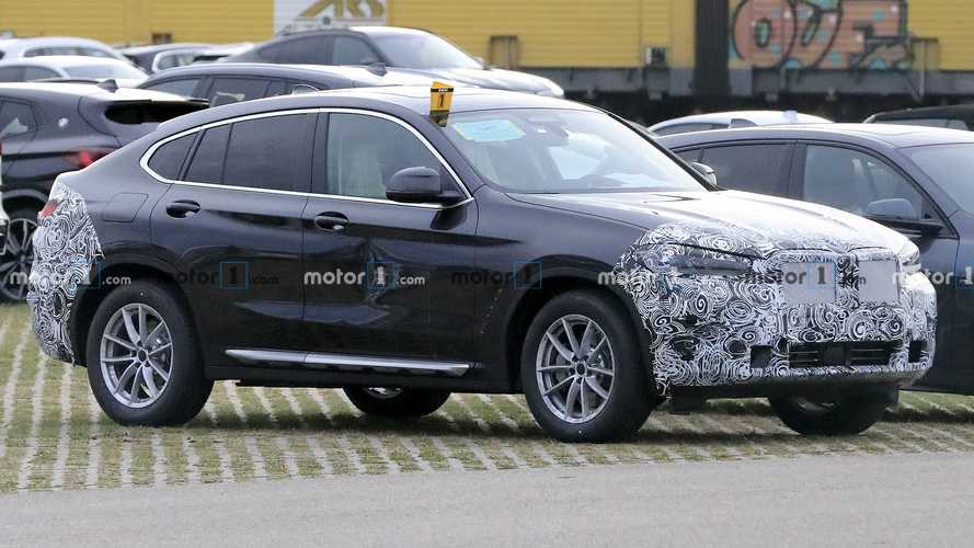 2022 BMW X4 facelift spied with a dent in the door