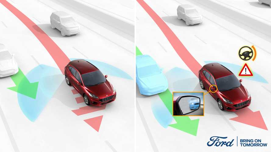 La Ford Kuga aiuta a evitare incidenti da angolo cieco
