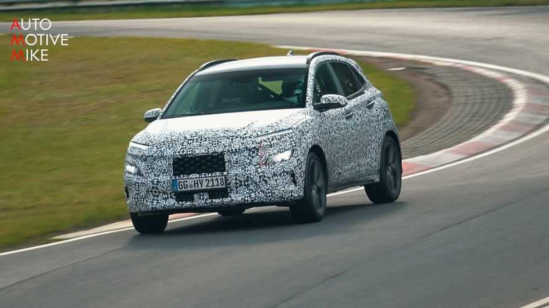 2021 Hyundai Kona N Spied On Video Having Hot Hatch Fun