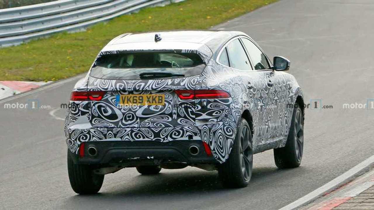 Jaguar E-Pace Facelift Spied Nurburgring Rear Closer