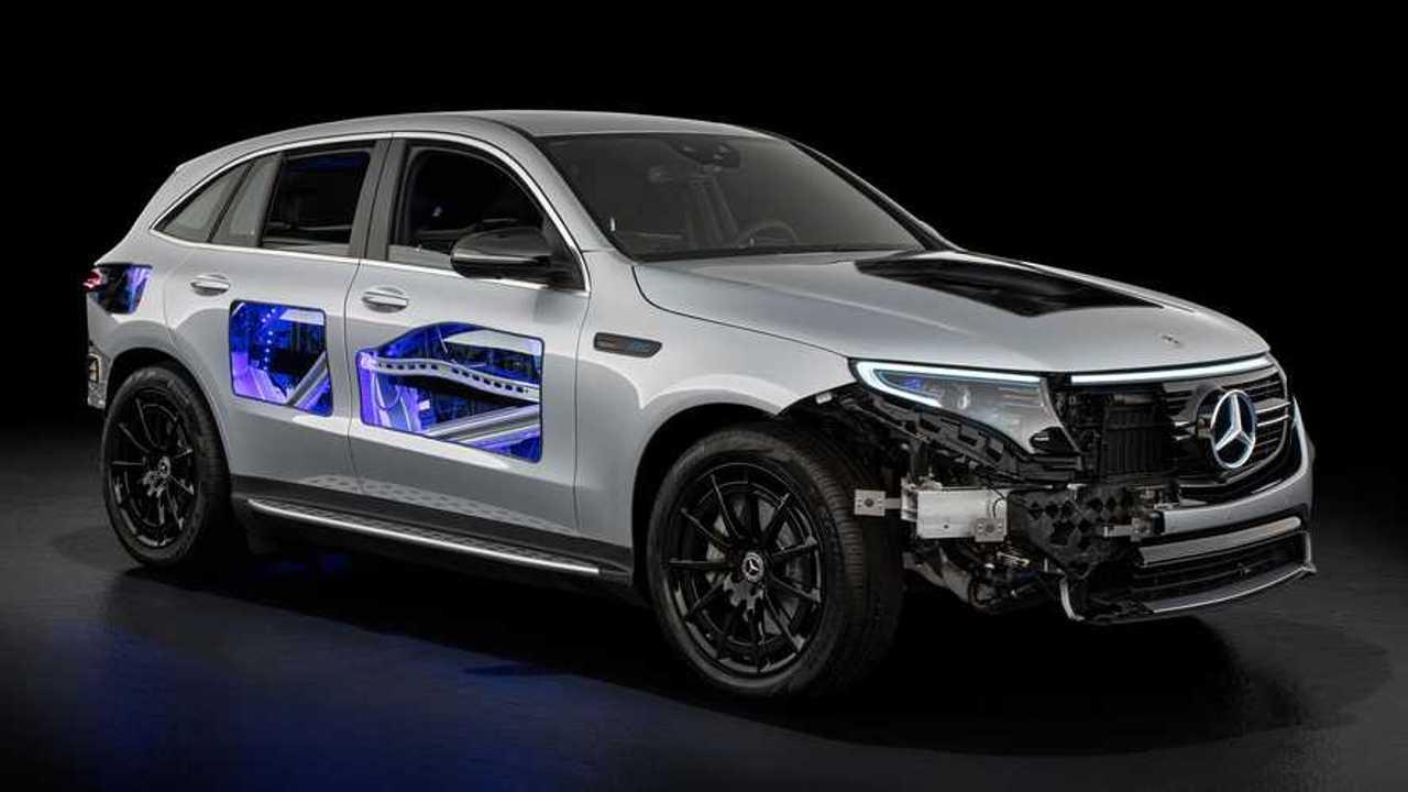 Mercedes EQC cutaway concept