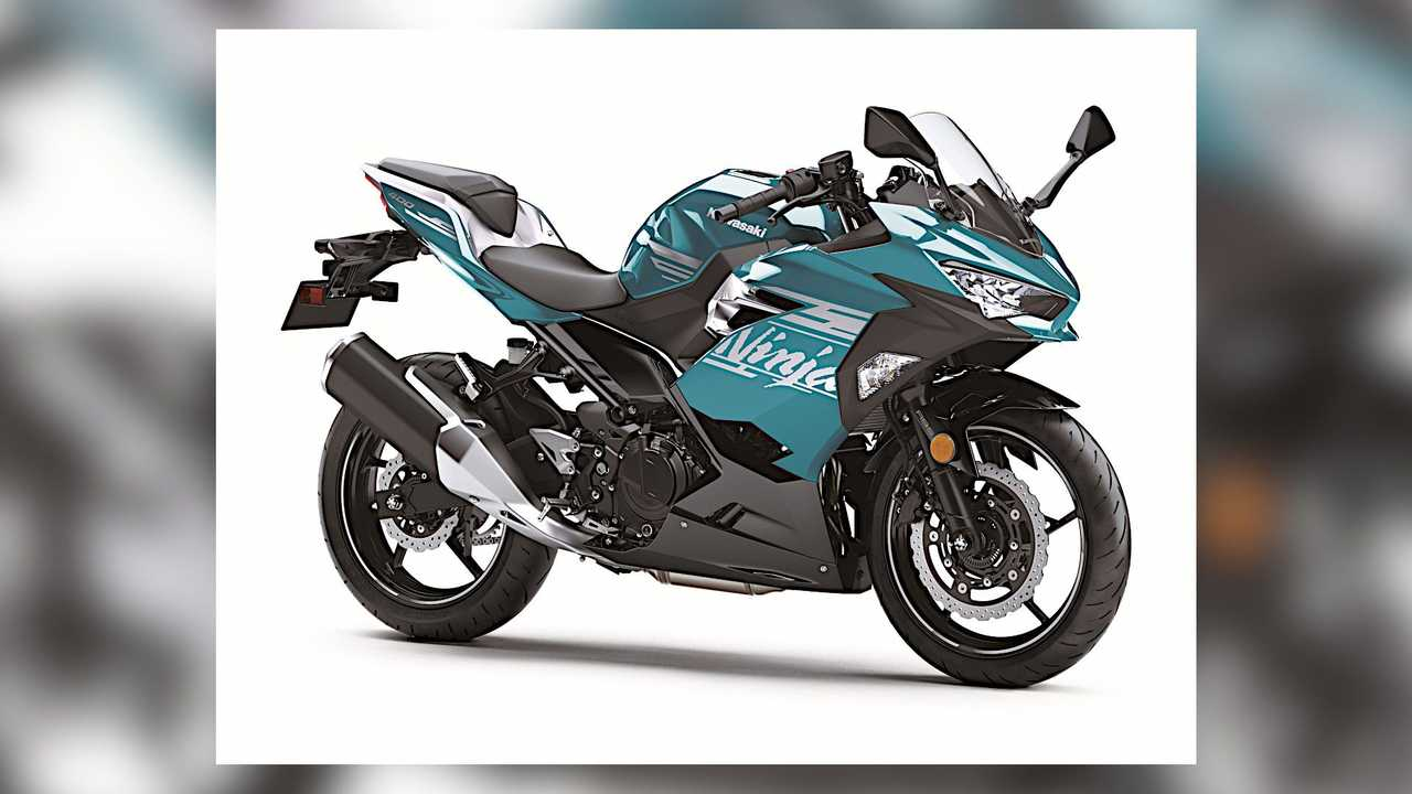 2021 Kawasaki Ninja 400 Teal Right Side