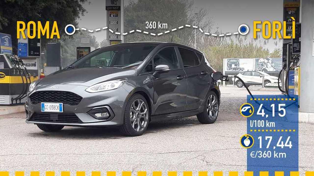 Ford Fiesta EcoBoost MHEV, prueba consumo