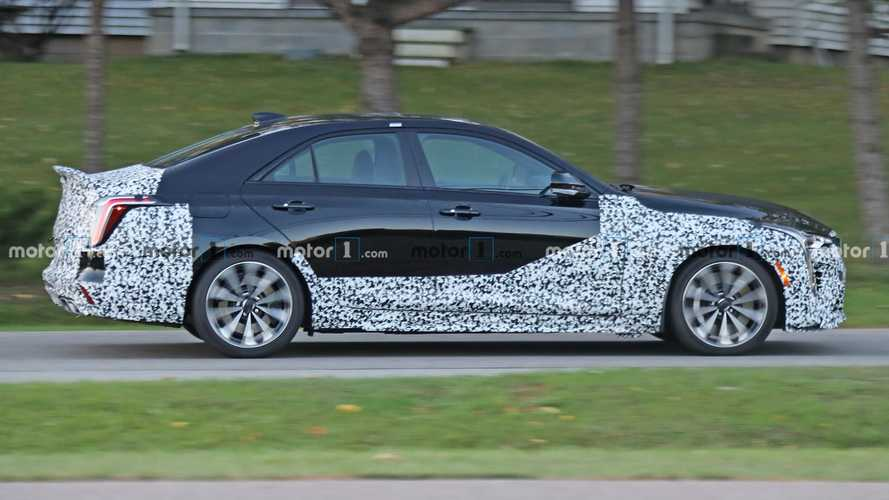 Cadillac CT4-V Blackwing Spied On Public Roads Flaunting Rear Spoiler