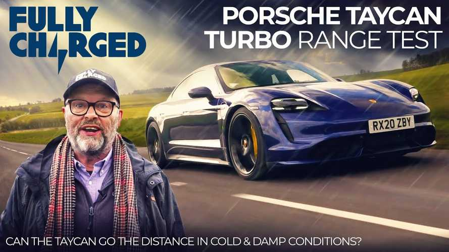 Fully Charged tests Porsche Taycan Turbo's cold weather range