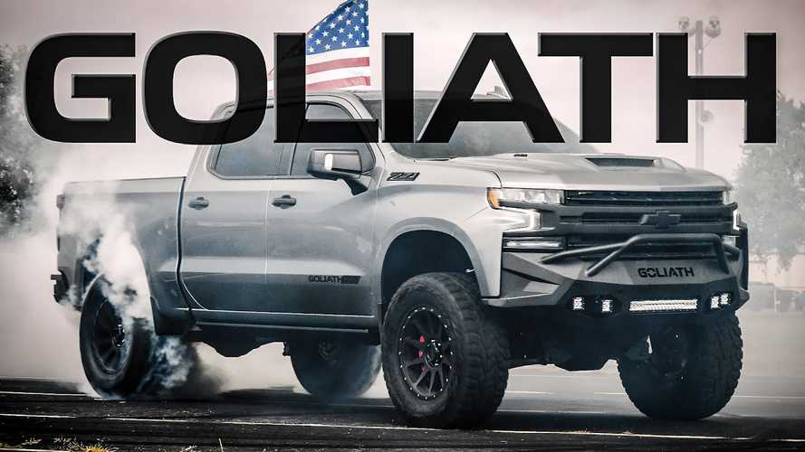 Watch Hennessey Silverado Goliath Cook Up Some Smoky Donuts
