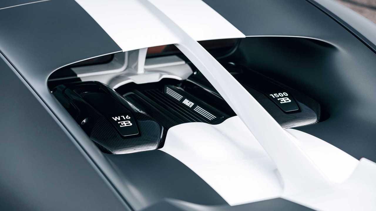 Bugatti Chiron Sport Les Légendes du Ciel Engine