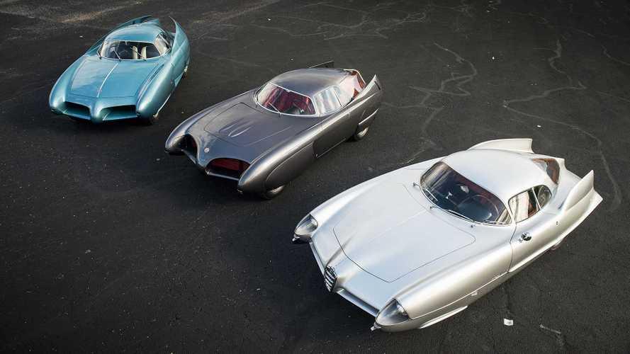 A subasta los Alfa Romeo B.A.T. 5, 7 y 9: un trío millonario de Bertone