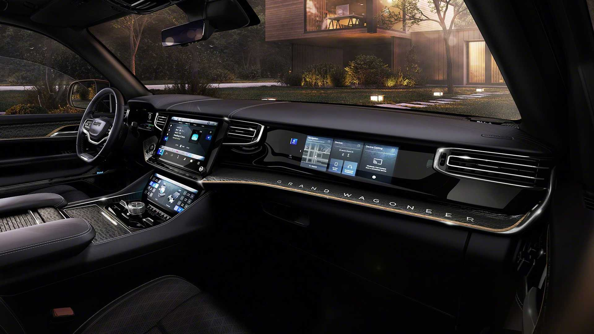 The Jeep Grand Wagoneer Concept Has Seven Huge Screens Inside