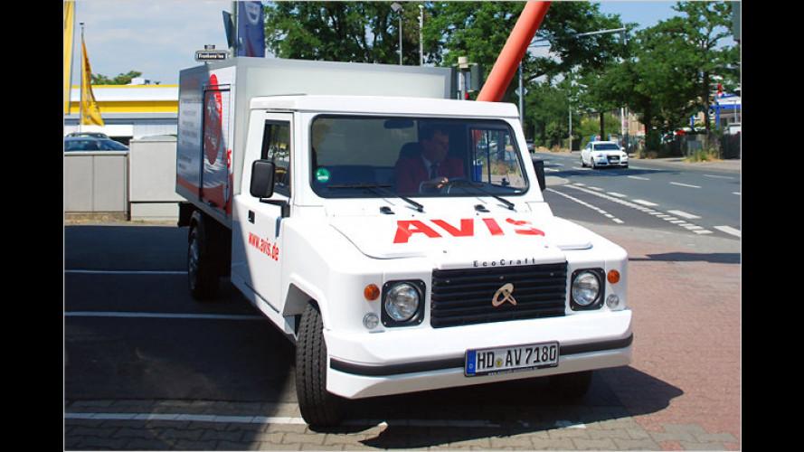 Kleintransporter mit Elektroantrieb zum Mieten