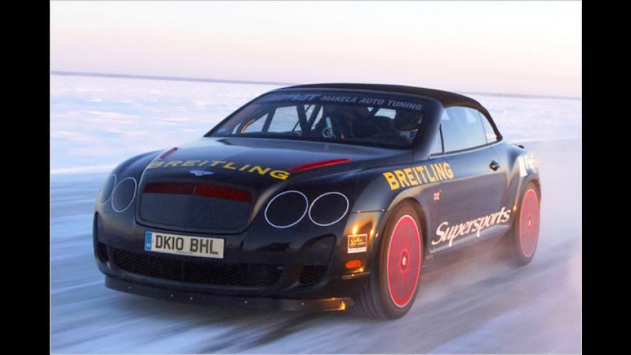 Ice Ice Baby: Bentley-Cabrio rast auf Ostsee zum Rekord