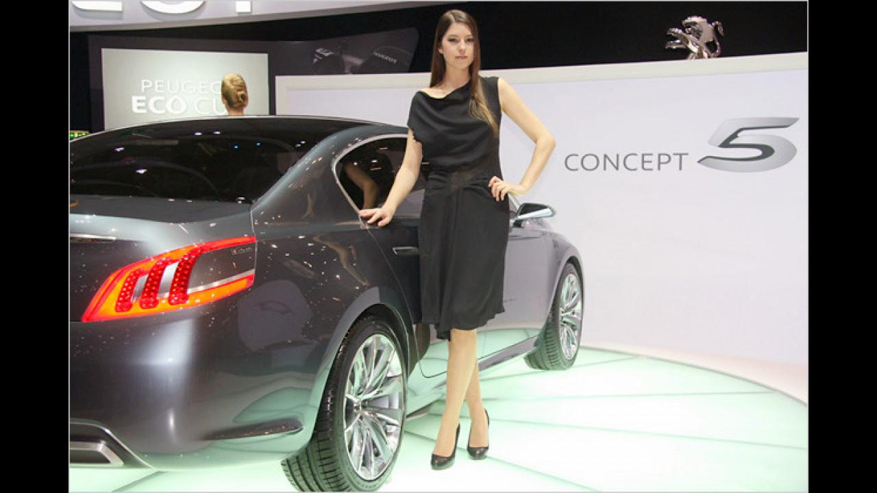 Auch Peugeot hat sehr Attraktives an seinem Stand zu bieten