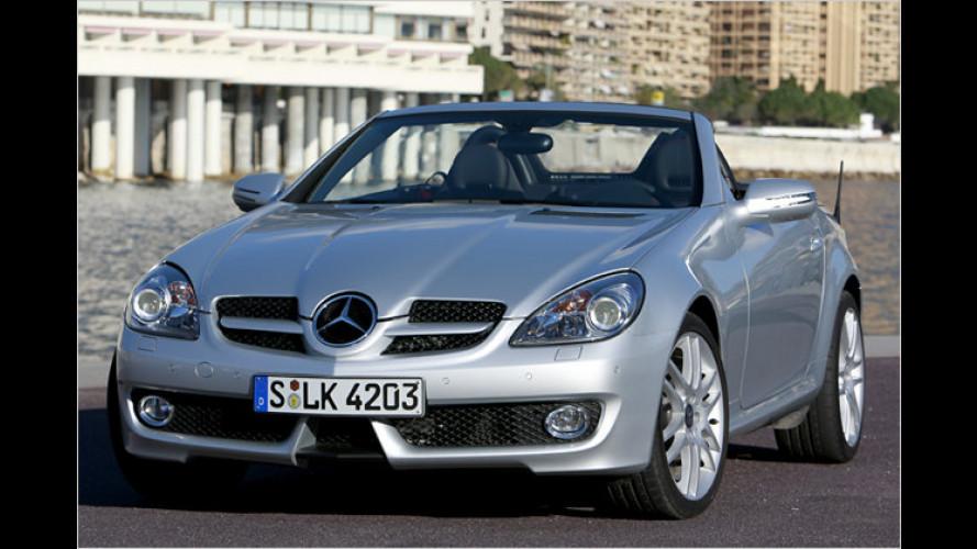 Mercedes SLK überarbeitet: Frisch auf ins neue Modelljahr