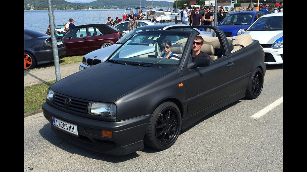 Golf Cabrio mit mattem Glanz