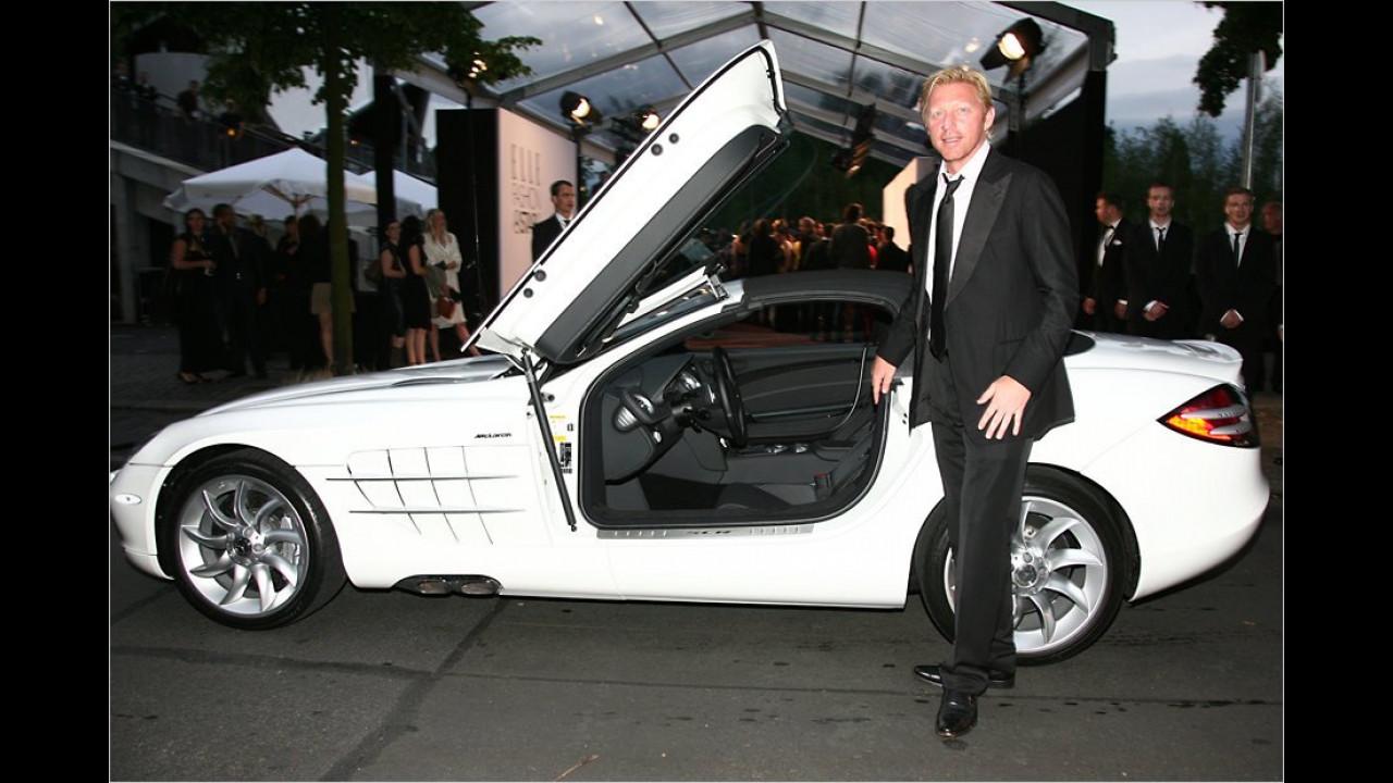 Boris Becker: Mercedes SLR Roadster