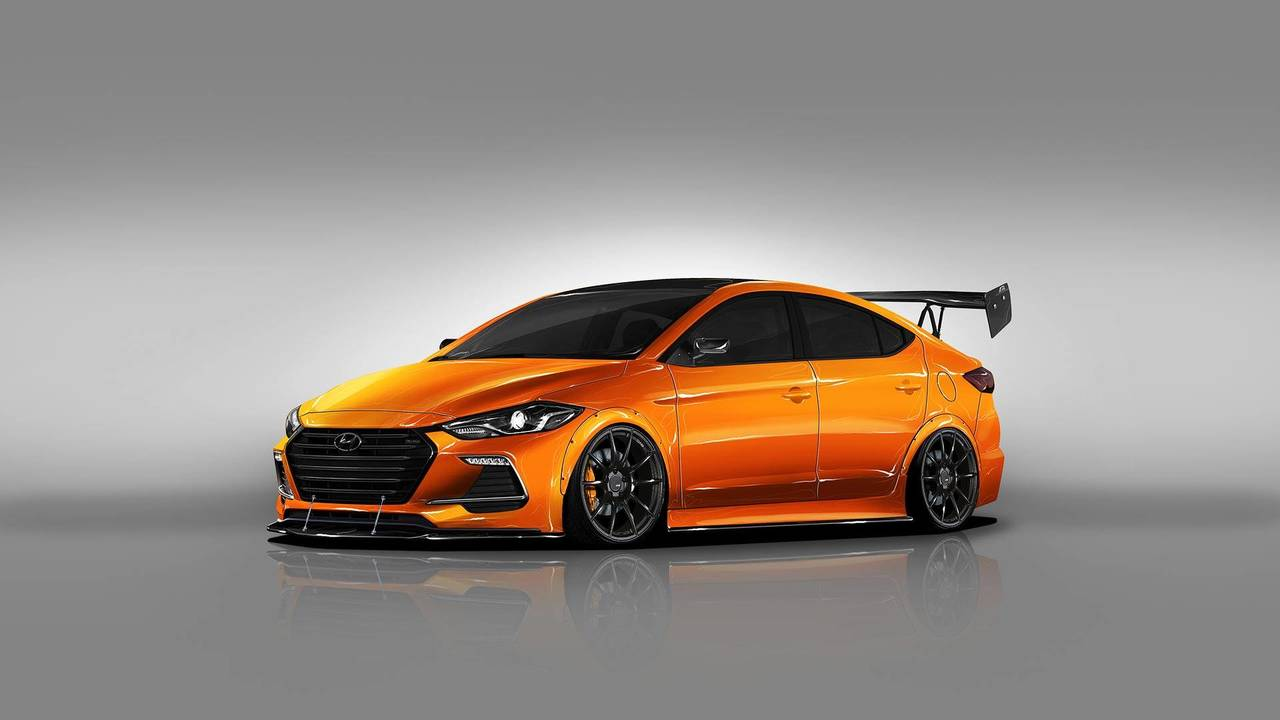 Hyundai Elantra Sport SEMA Custom By Blood Type Racing