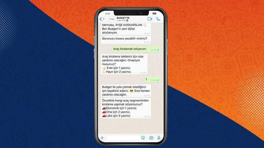 Budget rezervasyonunu WhatsApp üzerinden yapın!