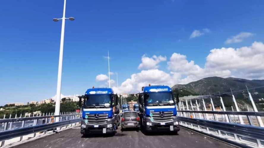 Ex Ponte Morandi, 56 tir sul nuovo Viadotto Polcevera