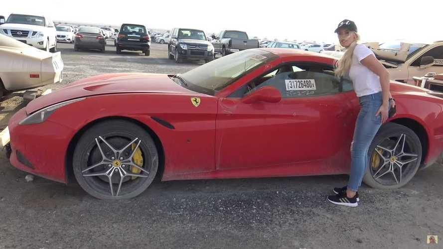Este desguace de Dubái está repleto de deportivos y coches de alta gama