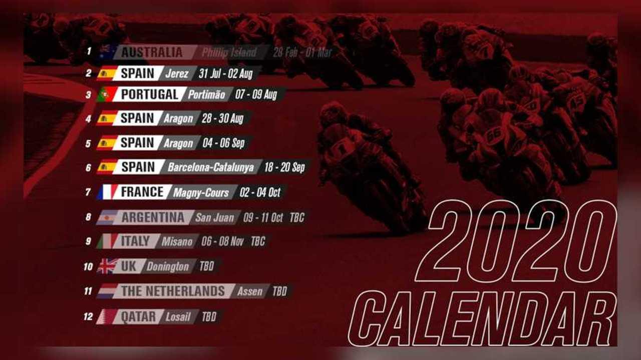 2020 WSBK Revised Calendar