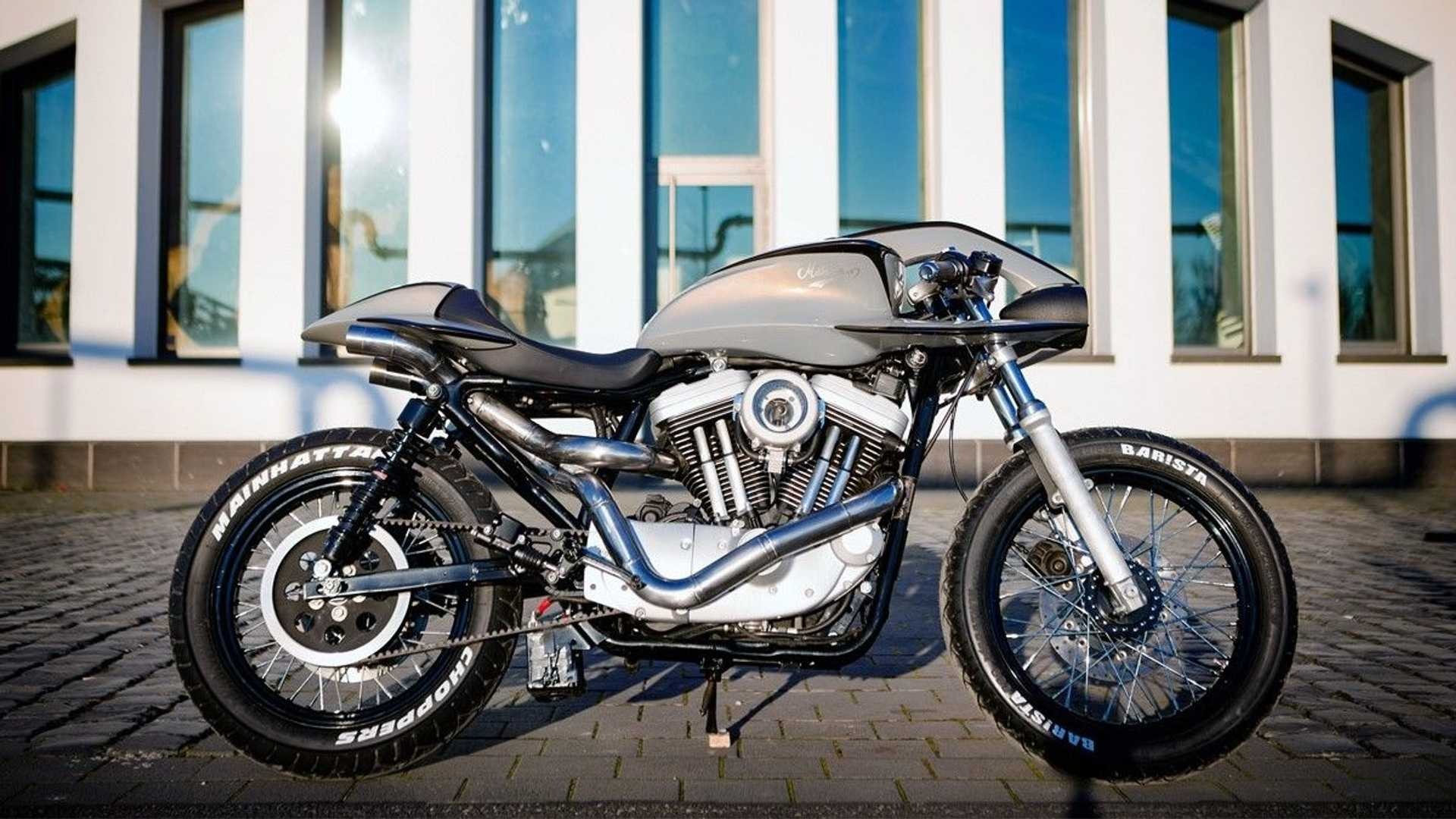 Custom Shop Elevates Harley Sportster To Futuristic Cafe Racer