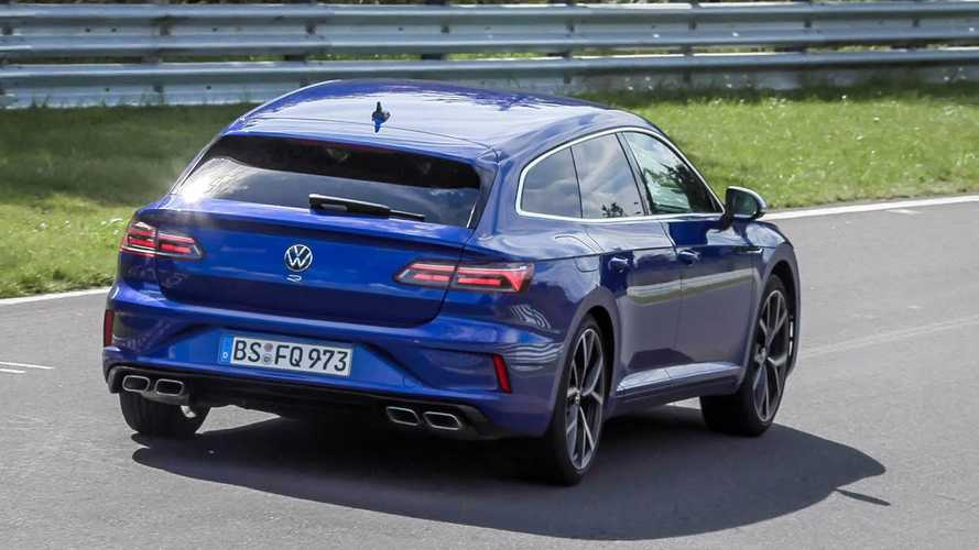 VW Arteon Shooting Brake R and Golf R seen in action at the 'Ring