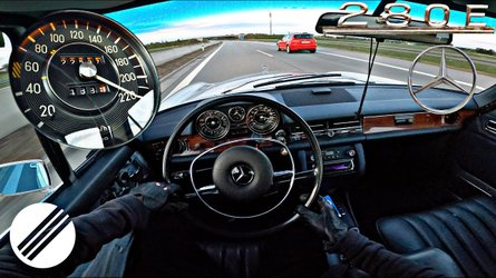 1973 Mercedes 280E Is Remarkably Smooth Doing 137 MPH On The Autobahn