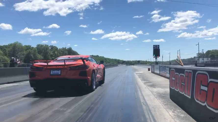See Chevy Corvette C8 Rip A 10-Second Quarter-Mile On Drag Tires
