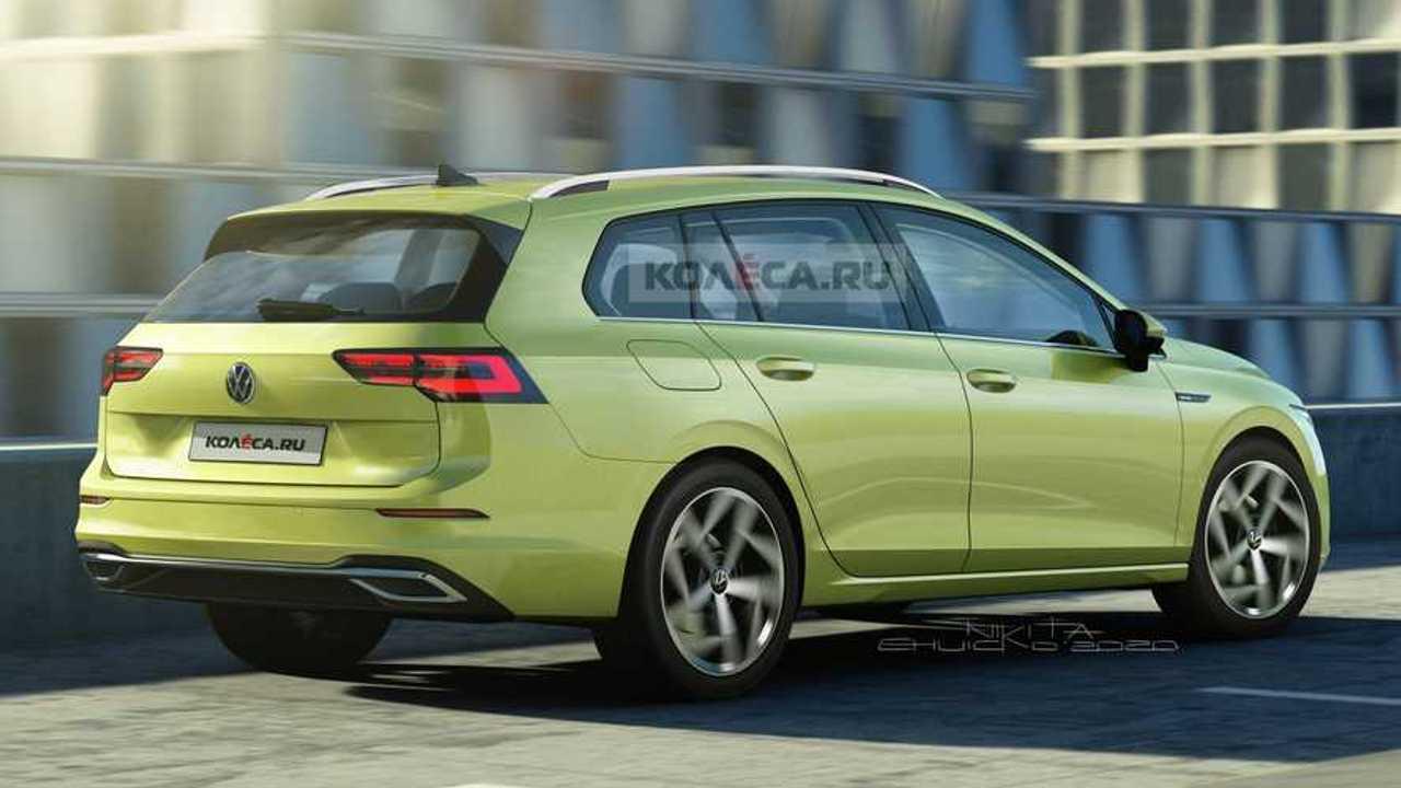 2021 VW Golf Variant new rendering